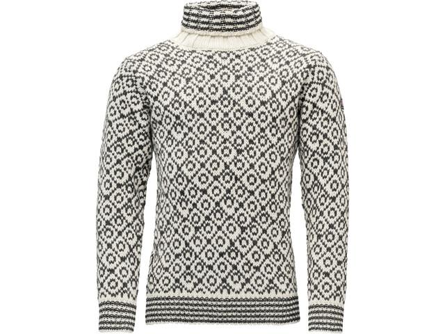 Devold Svalbard High Neck Suéter, beige/gris
